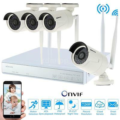 4CH Wireless 960P HDMI NVR Outdoor HD IP Camera Kit CCTV Security System C1P8