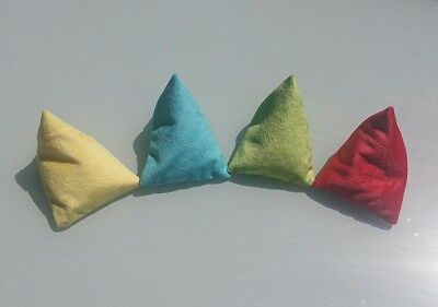 Kids Throwing Bean Bags, Triangle Shaped, Set of Four