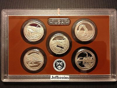 2014 S Proof Set Great Smoky Mts - Everglades National Park FL 5 Clad Coins ATB