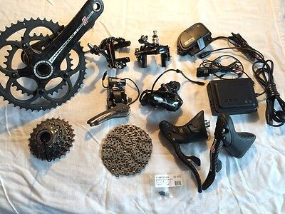 GREAT COND Campagnolo Record EPS V1 11 Speed Electronic bike Groupset + EXTRAS