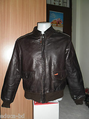 80's BLOUSON CUIR AVIREX LIMITED THE RIGHT STUFF FOR AC DELCO FLIGHT JACKET