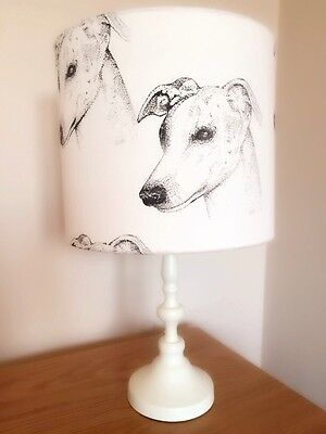 Whippet Dog Print Fabric Lamp