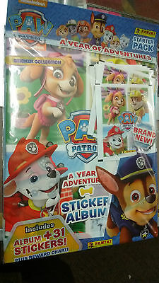 Paw Patrol 2 ~ Panini Sticker Collection Starter Album Packk & 31 Stickers NEW!!