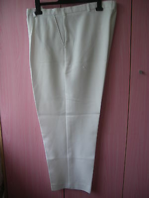 "Taylor Clan Lands White Bowls Trousers 40"" waist 29"" leg"