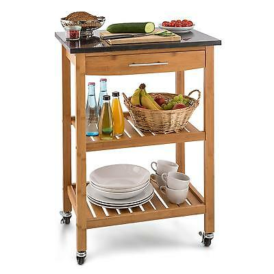 Portable Kitchen Cart Catering Room Service Trolley 2 Shelf Restaurant Home Shop