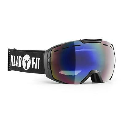 Klarfit Snow View Black Revo Coating Ski Snowboard Goggles Half Frame Sports
