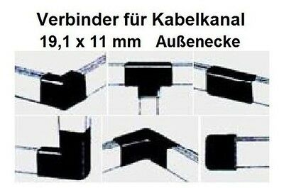 Connector - Outside corner - for Cable channel 19,1x11mm