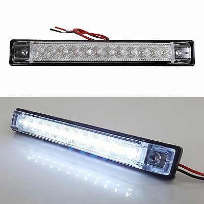 "4 PACK 6""x1"" WHITE LED SLIM LINE LED UTILITY STRIP LIGHTS 12 LEDS RV BOAT"