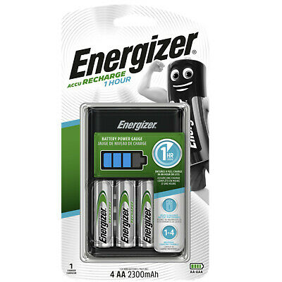 Energizer  LCD 1 HOUR Quick Rapid Charger for AAA AA , 4 x AA 2300mAh Batteries