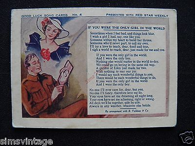 Unusual Weird D Good Luck Song Card Soldier With Picture 5