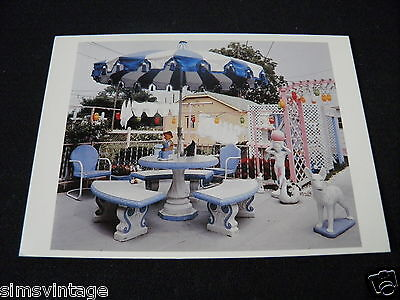 Unusual Weird B Postcard Indianapolis Indiana 1983 yard / patio by David Graham