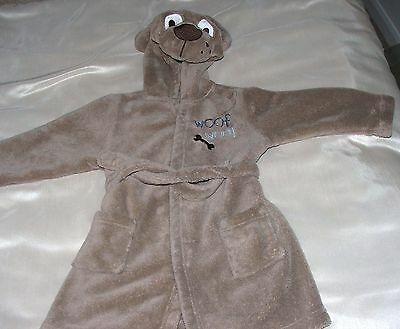 Childs Hooded Animal Charactor Dressing Gown Age 12-18 Months