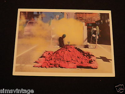 Unusual Weird Postcard Fith Avenue New York City 1979 Construction / Road Worker