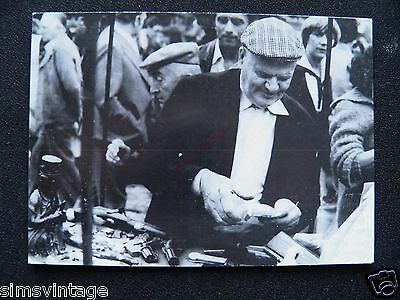 Unusual Weird D Postcard Brussells Bruxelles MarketMan antique stall ? 16