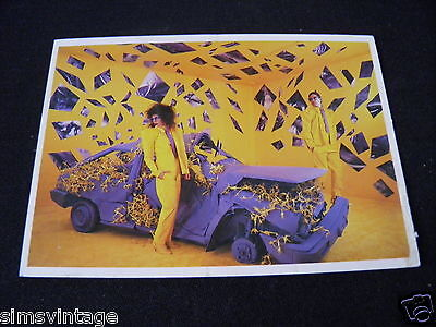 Unusual Weird B Postcard Neo Auto The Lost and Found 1986 car ripped yellow