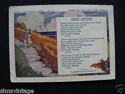 Unusual Weird D Good Luck Song Card Couple Wlking by Sea Path  7