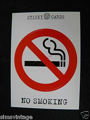 Unusual D Weird Postcard Sticky Peelable Sticker NO SMOKING  053