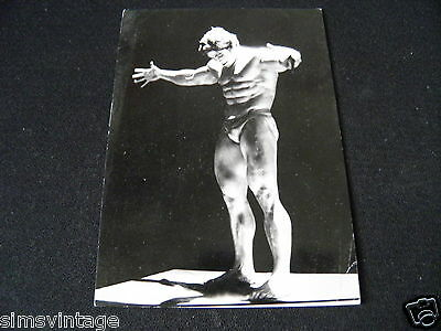 Unusual Weird Postcard Body Builder by Patrick Sarfati Arnold Swarchenegger ?
