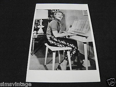Unusual Weird B Postcard Patti Page c1954
