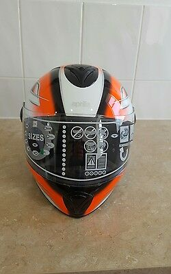Aprilia Street Orange, Black/White Medium full face helmet