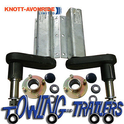 """350kg Trailer Suspension Units and Hubs to suit 4"""" PCD Wheel"""