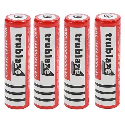 4 x 18650 Battery 3.7V High Capacity Rechargeable Batteries For Torch Flashlight
