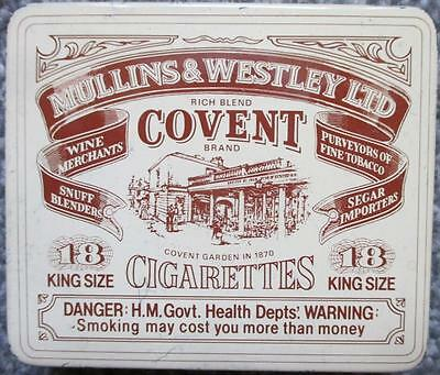 Vintage Mullins & Westley Covent Cigarettes 18 King Size Empty Tin