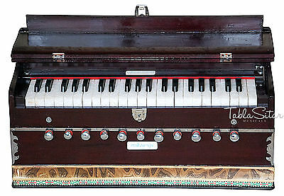HARMONIUM No. 5600m|MAHARAJA|A440|MAHOGANY|11STOP|COUPLER|BOOK|42KEY|BAG|DD-2