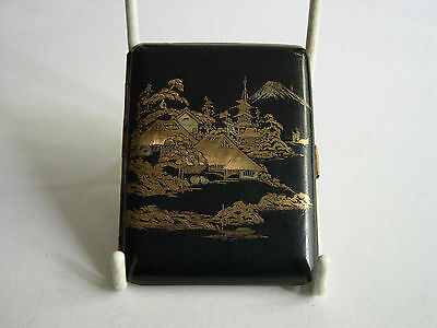 Fine Antique Japanese  24ct Gold & Mix Metal Damascene Cigarette Case
