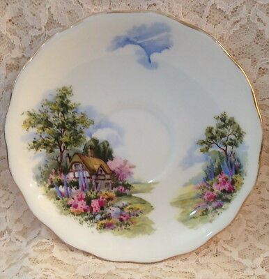 Vintage Royal Vale Replacement Saucer Anne Hathaway House Cottage Garden