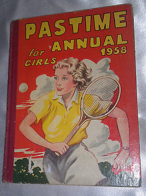 Pastime 1958 ANNUAL for Girls Hardcover