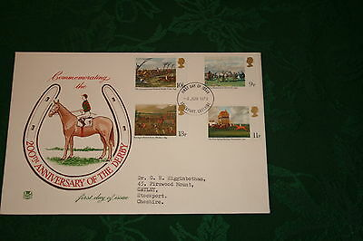 Stuart First Day Cover 1979 Bicentenary of the Derby Horseracing Paintings