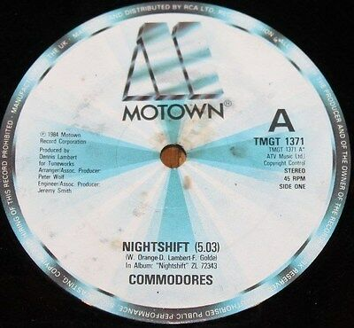 """THE COMMODORES * NIGHTSHIFT * Classic Soul Funk Boogie 12"""" Vinyl"""