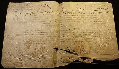1759 King Louis XV Signature on Parchment Document on December, 16 1759