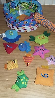 Pre school fishing game with velcro