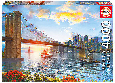 Puzzle 4000 Piezas teile pieces Puente de Brooklyn Bridge Educa 16782