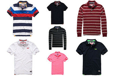 New Mens Superdry Polo Shirts. Variety Of Styles & Colours