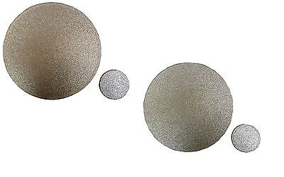 Home Decor Glitter Sparkle Set of 4 Reversible Placemats & Coasters Gold/Silver