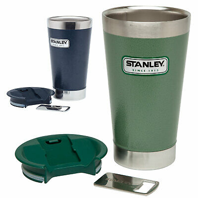 STANLEY Vacuum Pint 0,47 L - Thermo Becher Isolierbecher Deckel & Flaschenöffner