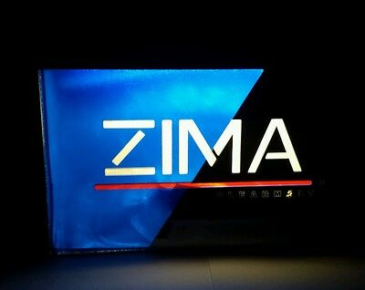 Vintage bar sign ZIMA Clear Malt backlit Light