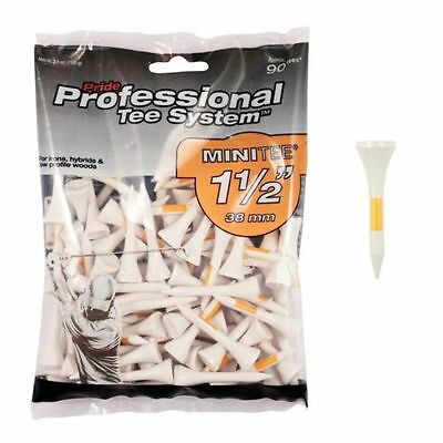 """Pride Wooden Golf Pts Tees 38Mm (1 1/2"""") 90 Pack Irons & Hybrids"""