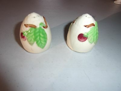 Vintage White Salt & Pepper Shakers with Vine Design