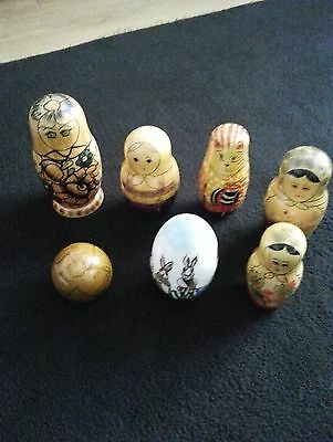 7   Individual  Large Russian Dolls