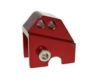 Riser kit CNC 2 hole red - Piaggio Zip 25 SSL (from year 1999th)