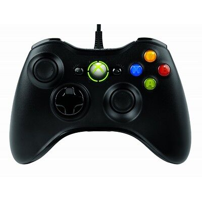 Microsoft Xbox 360 Wired Controller Black for Windows PC Brand New