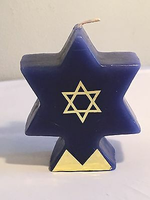 Star of David Candle In Original Box Hannukah Decor Decorations