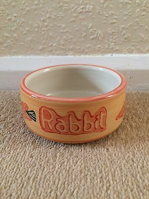 Mason Cash Rabbit Food Bowl Pet Feeding Ceramic Carrot Design Small Animal Pets