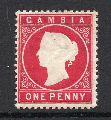 Gambia 1 Penny Stamp c1886-93 Mounted Mint (1)