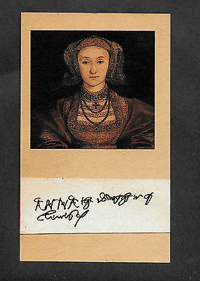 Anne of Cleves Autograph Reprint On Genuine Original Period 1520s Paper