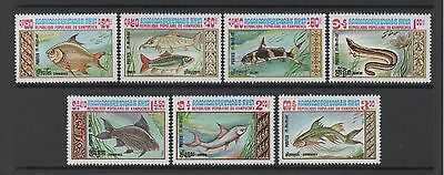 Kampuchea 1983 Fish Very Fine Set **mint Never Hinged**